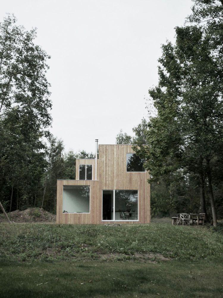 Modern Box House Outside Frankfurt Architectuur House Thuis