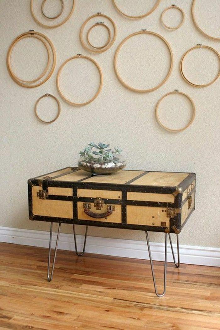 60 id es avec la valise vintage valises id es cr atives et creatif. Black Bedroom Furniture Sets. Home Design Ideas