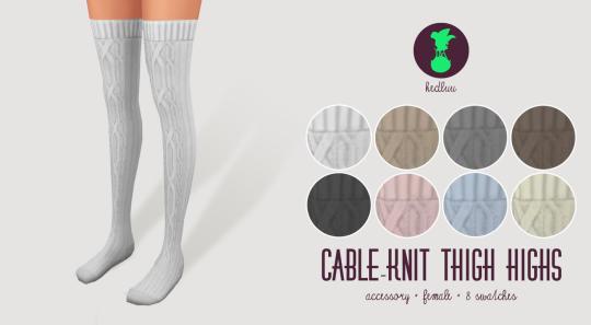 Thigh High Cable Knit Leggings Sims 4 Cc Maxis Match
