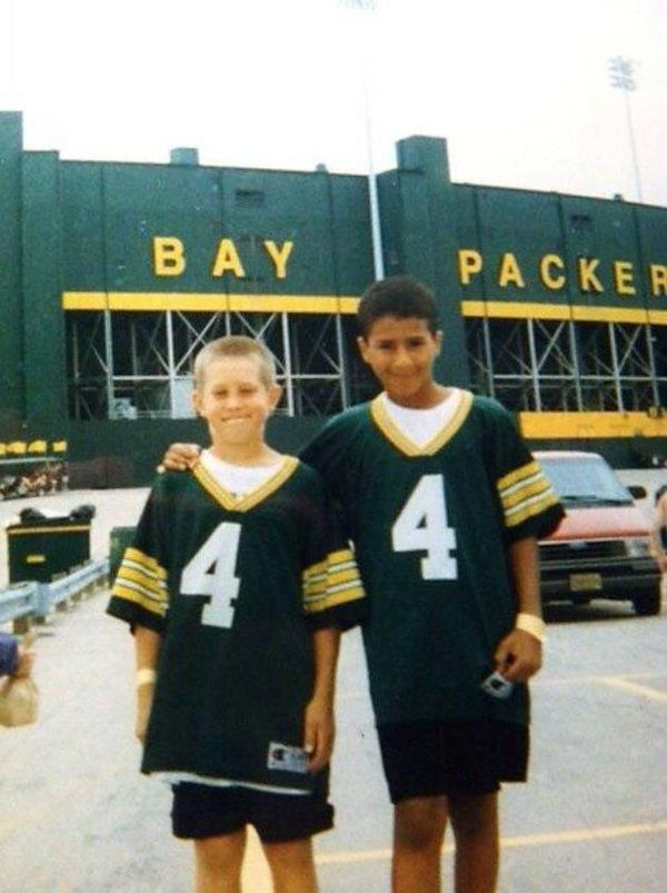 e3fdf7499 Check out Wisconsin native Colin Kaepernick wearing a Packers jersey as a  young kid