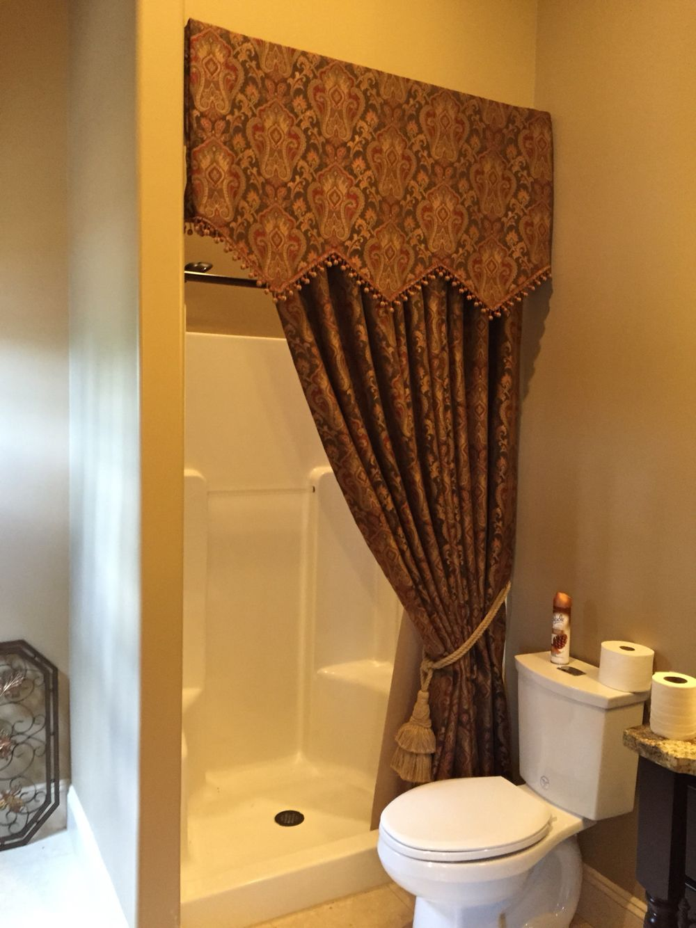 Tuscan Pool bath - custom shower curtain | Old world/tuscan house ...