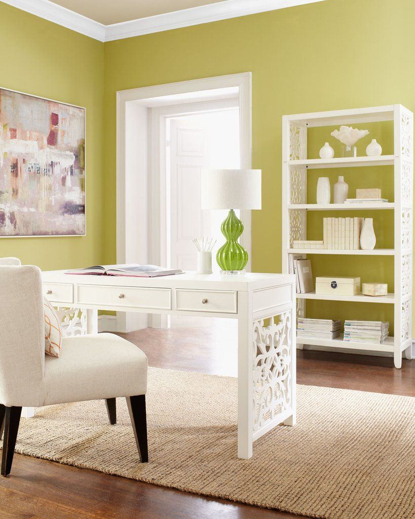 white brocade writing desk