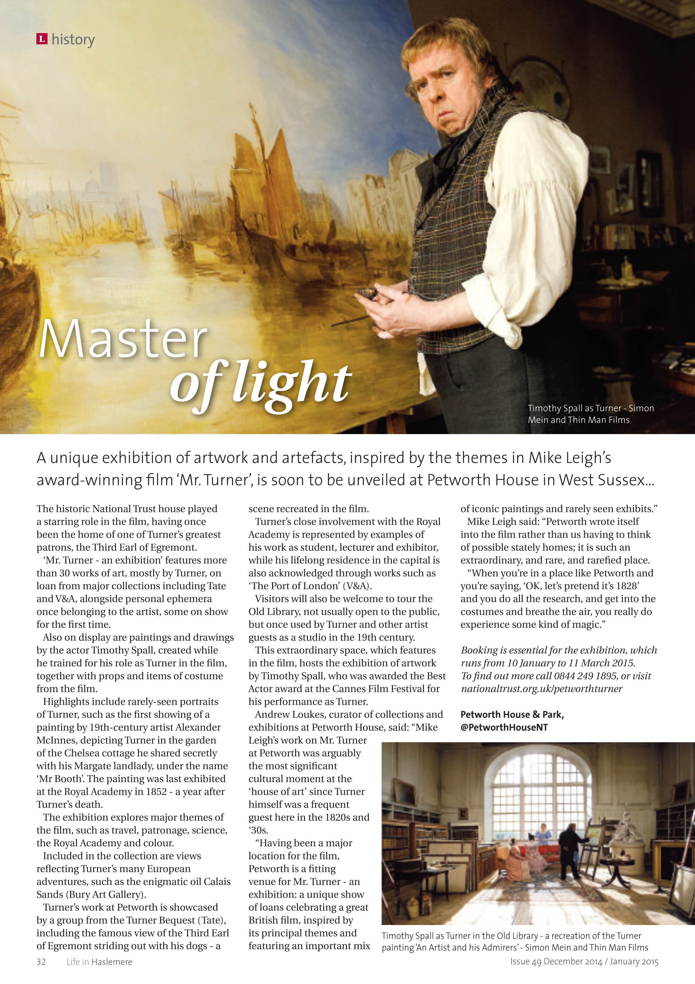 Master of light - JMW Turner exhibition at Petworth House