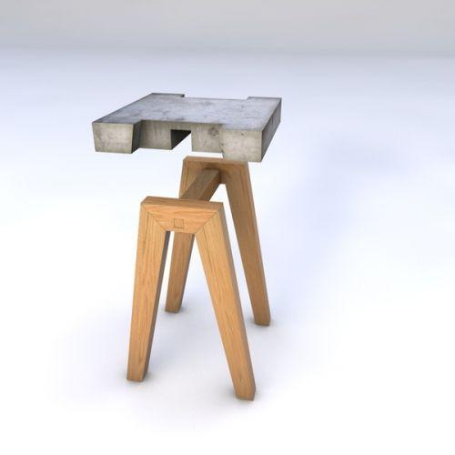 Appoint Beton Bois Decoration Design Hector Leon Table Concrete Furniture Cement Furniture Concrete Crafts