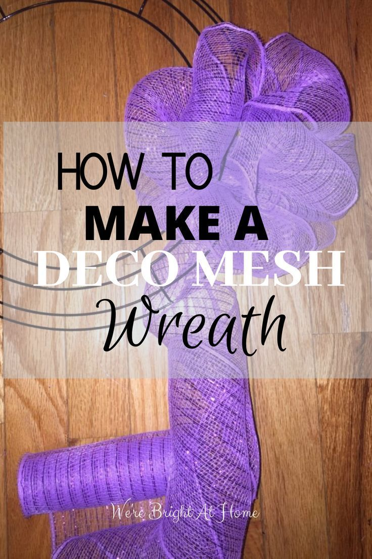 Photo of #wreath #decomesh #diy #Learn #how #to  Learn how to make a deco mesh wreath the…
