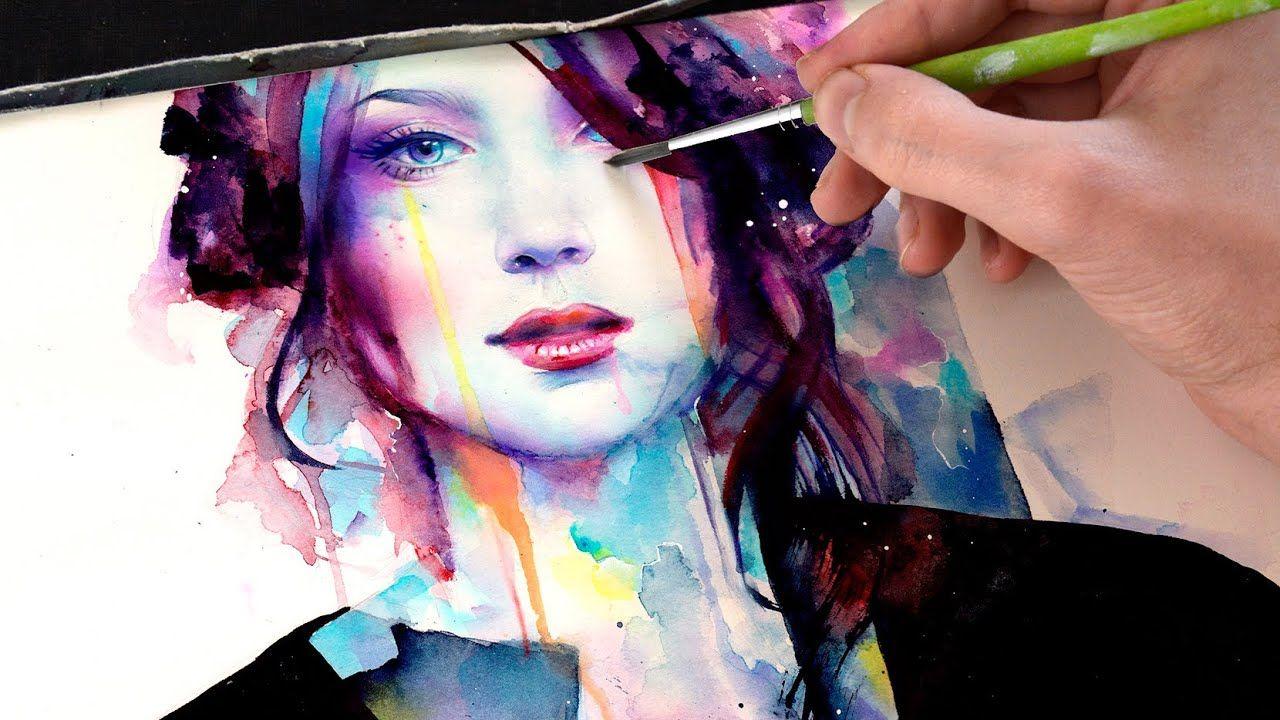 Watercolor Portrait With Her Strength Tutoriel Portrait