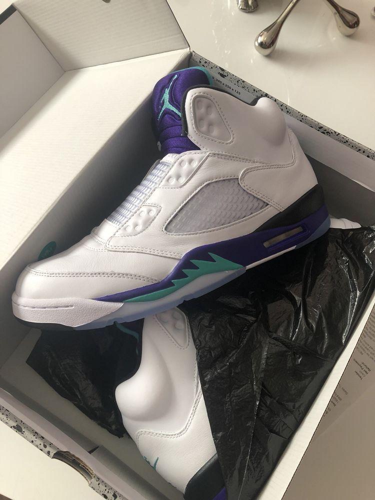new style 4fb88 11bd4 2018 Nike Air Jordan 5 V Retro NRG Fresh Prince Grape AV3919-135 Size 10   fashion  clothing  shoes  accessories  mensshoes  athleticshoes (ebay link)