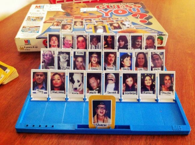 personalised Guess Who using people you know
