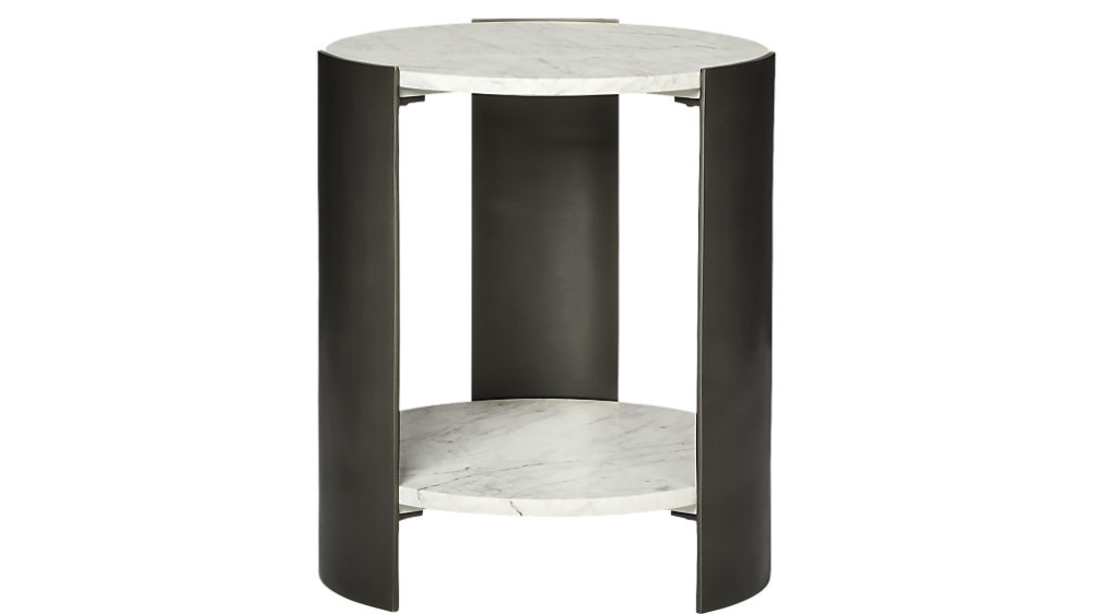 Beret Marble 2 Tier Side Table Reviews Cb2 In 2020 Side Table Marble Side Tables Side Table Design