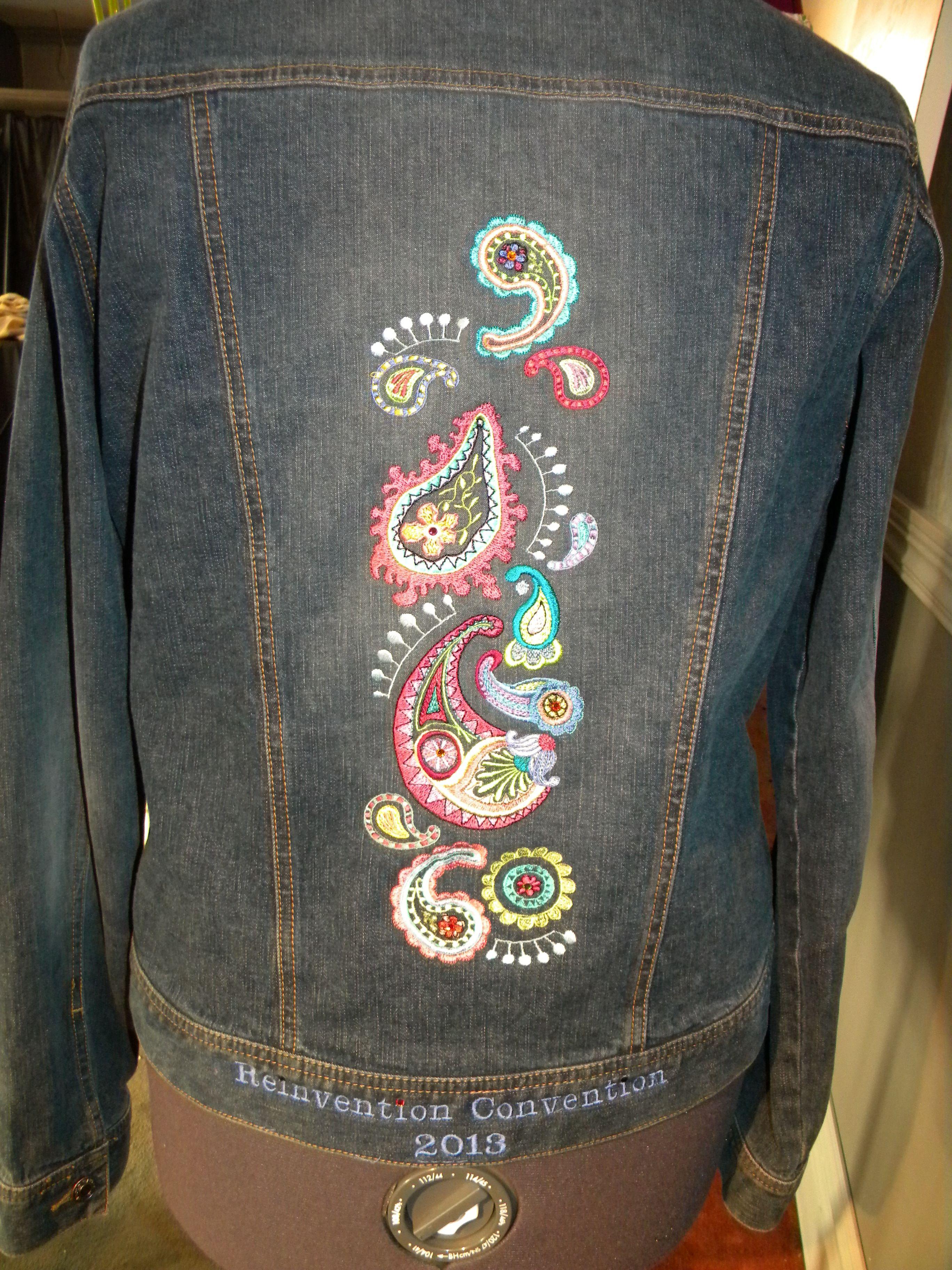 Wonderful Embroidered Denim Jacket Goodwill Reinventions Jackets