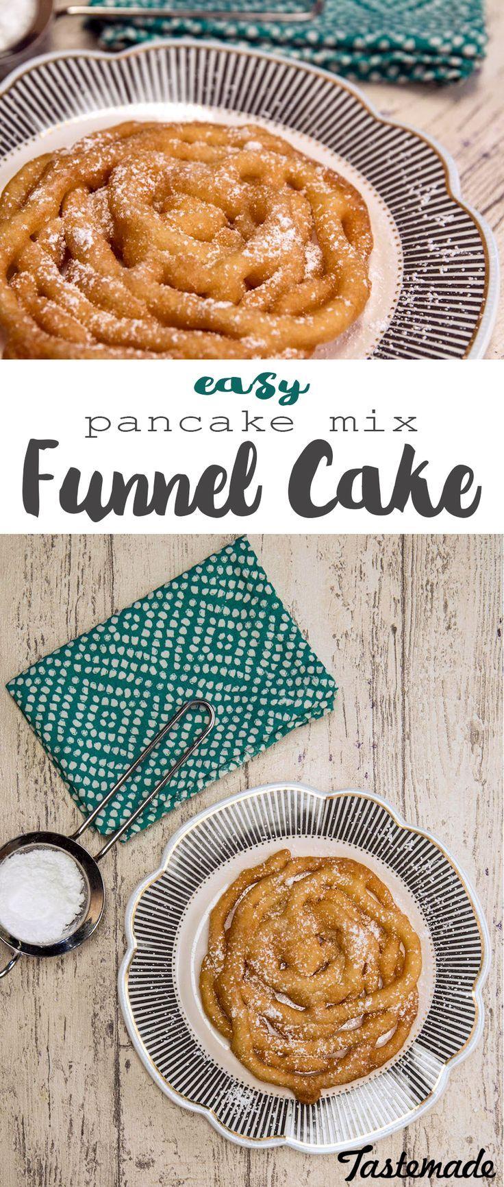 Pancake mix funnel cake recipe pancake mix funnel cake