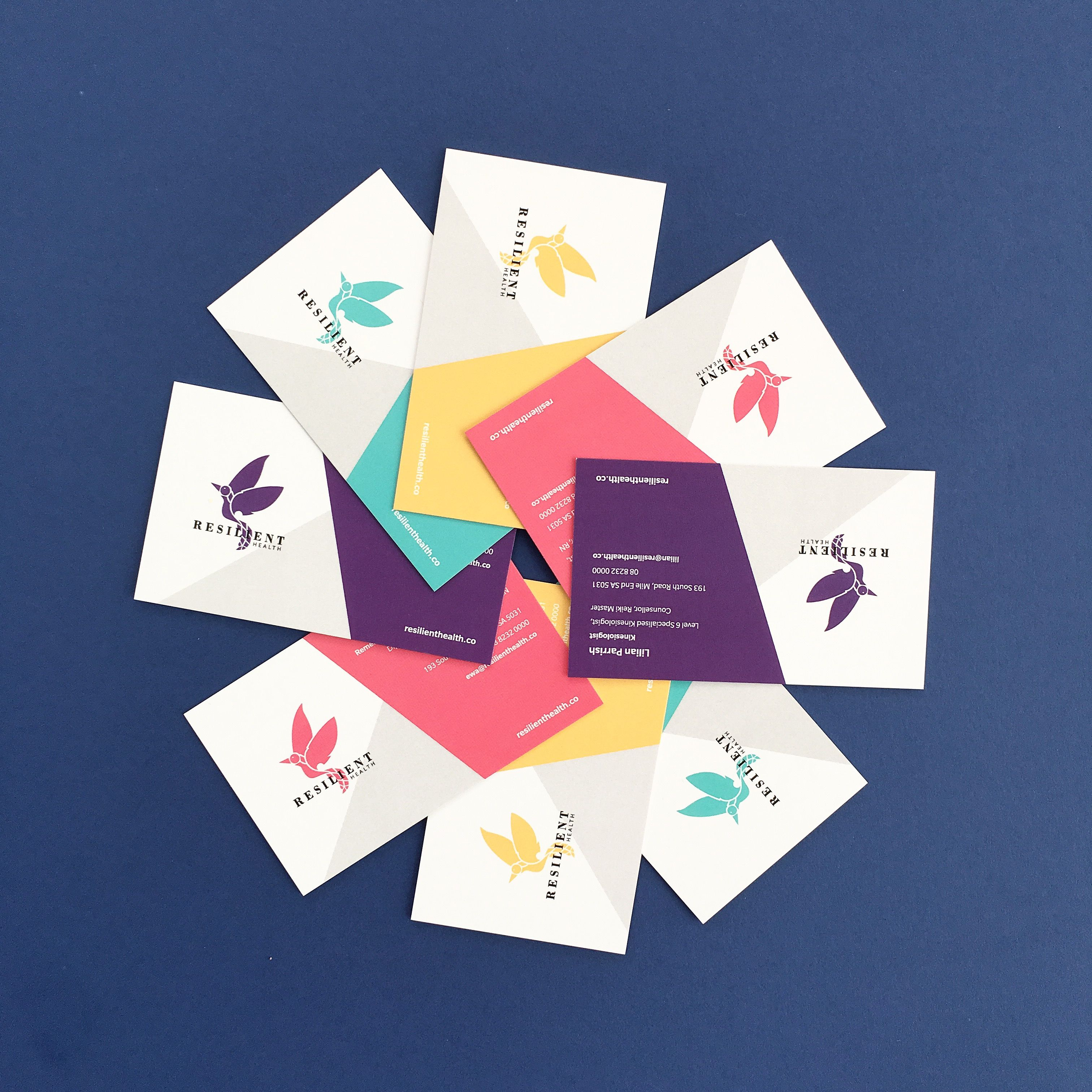 Resilient Health business cards (logo + business cards + stationery ...