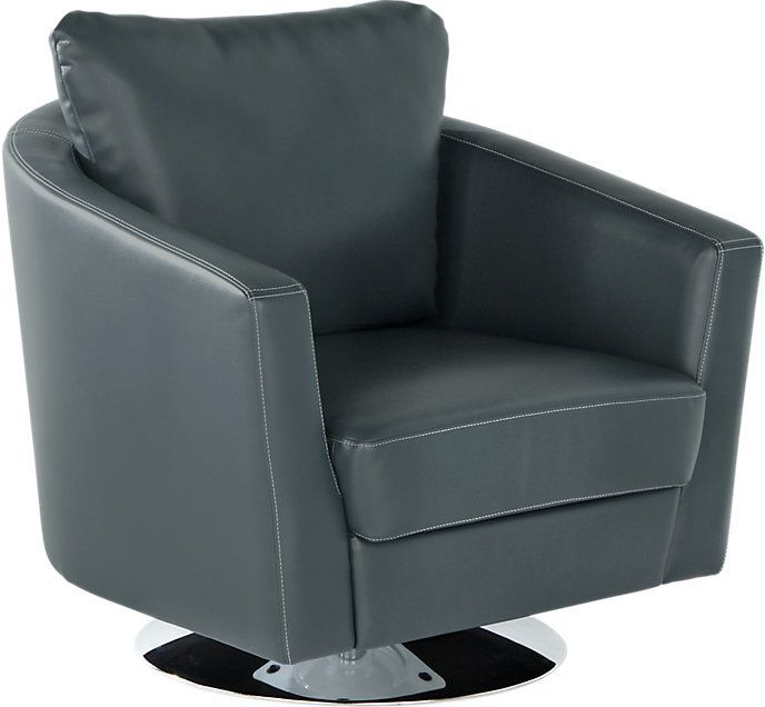 Sofia Vergara Sybella Blue Swivel Chair