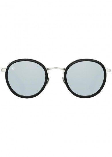 efd2010ebd Taylor Morris Eyewear black acetate sunglasses Mirrored designer-engraved  lenses
