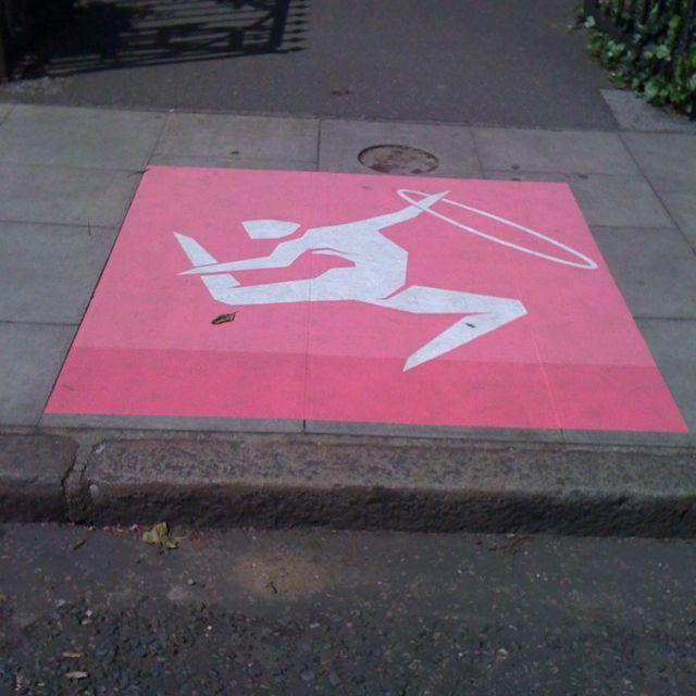 Giant pictograms around London.