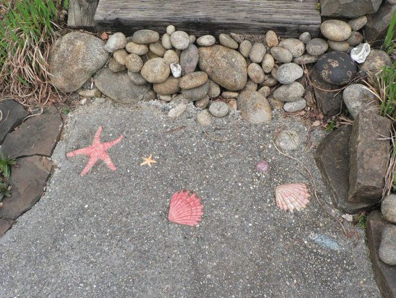 Nice Indoor Or Outdoor Starfish For Beach Themed Decorative Cement Or Back  Splash (set Of 5