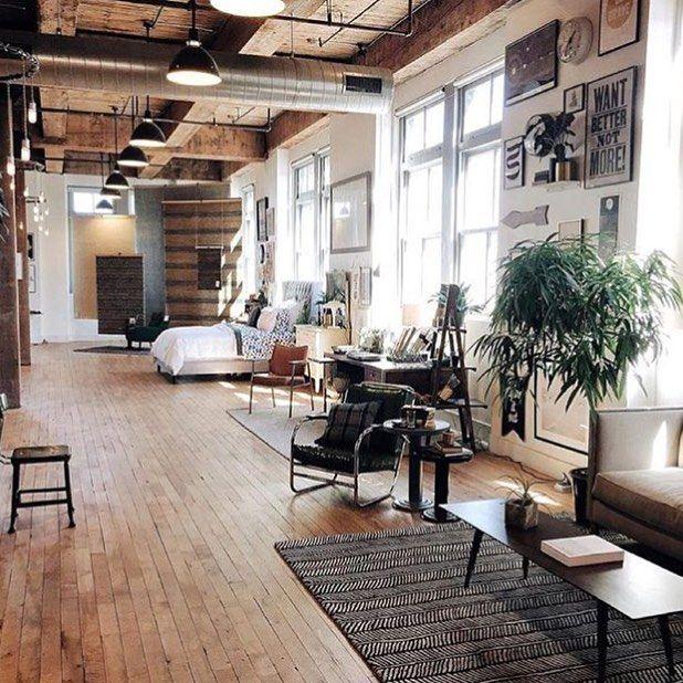 Brooklyn Industrial Loft Apartments: Loft Living, Brooklyn, Via Interiorhints Interior, Design
