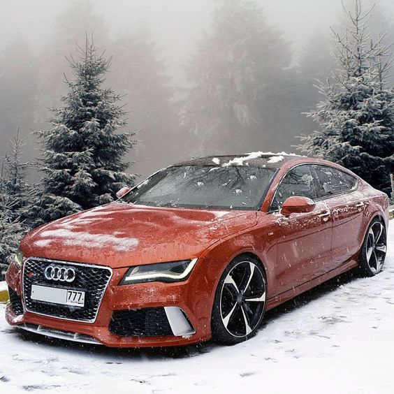 Wine Red Audi RS7 High-end Luxury Sport Cars