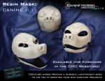 Resin Mask: Canine v1.1 by CanineHybrid