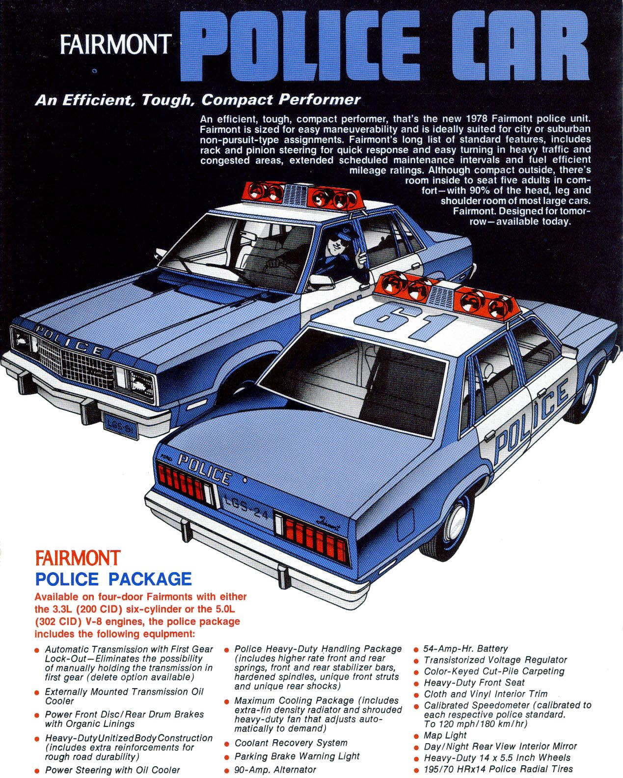 Ford Fairmont Squad Ad Jpm Entertainment Police Cars Old Police Cars Fairmont