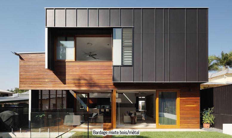 maison bardage mixte zinc et bois | Bardages maison | Pinterest ...