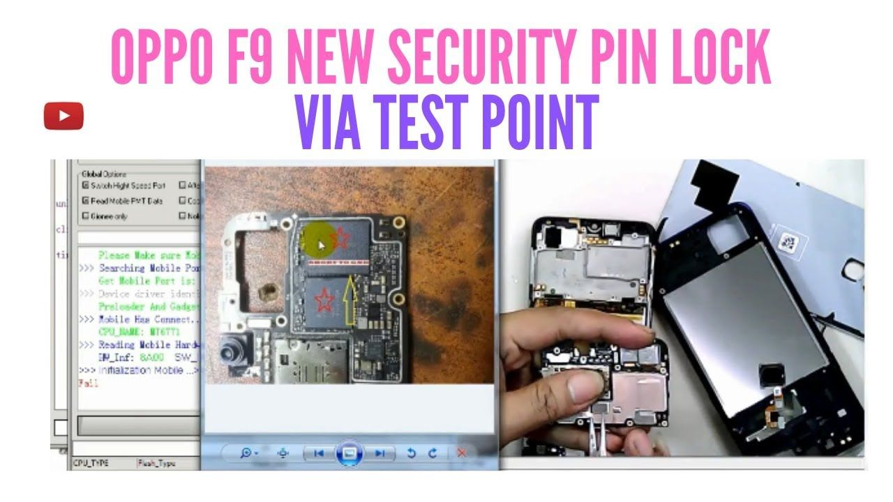 OPPO F9 CPH 1823 NEW SECURITY REMOVE PIN LOCK (TEST POINT