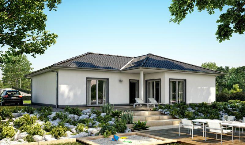 Massivhaus Kern Haus Bungalow Balance Gartenseite Home   Bungalow Huser