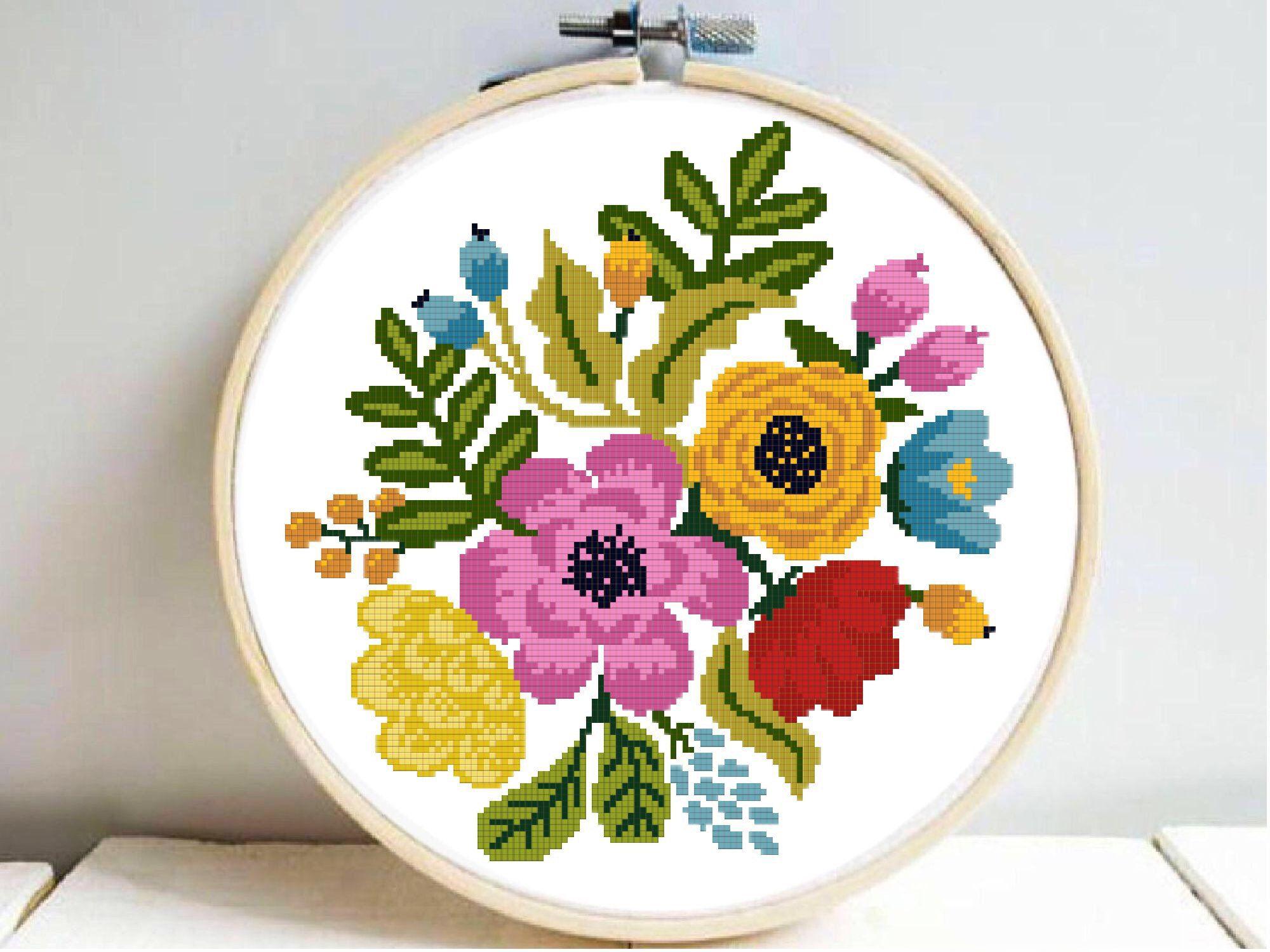 Cross Stitch Crafts For Beginner Needlework Handmade Arts DIY Embroidery Tools