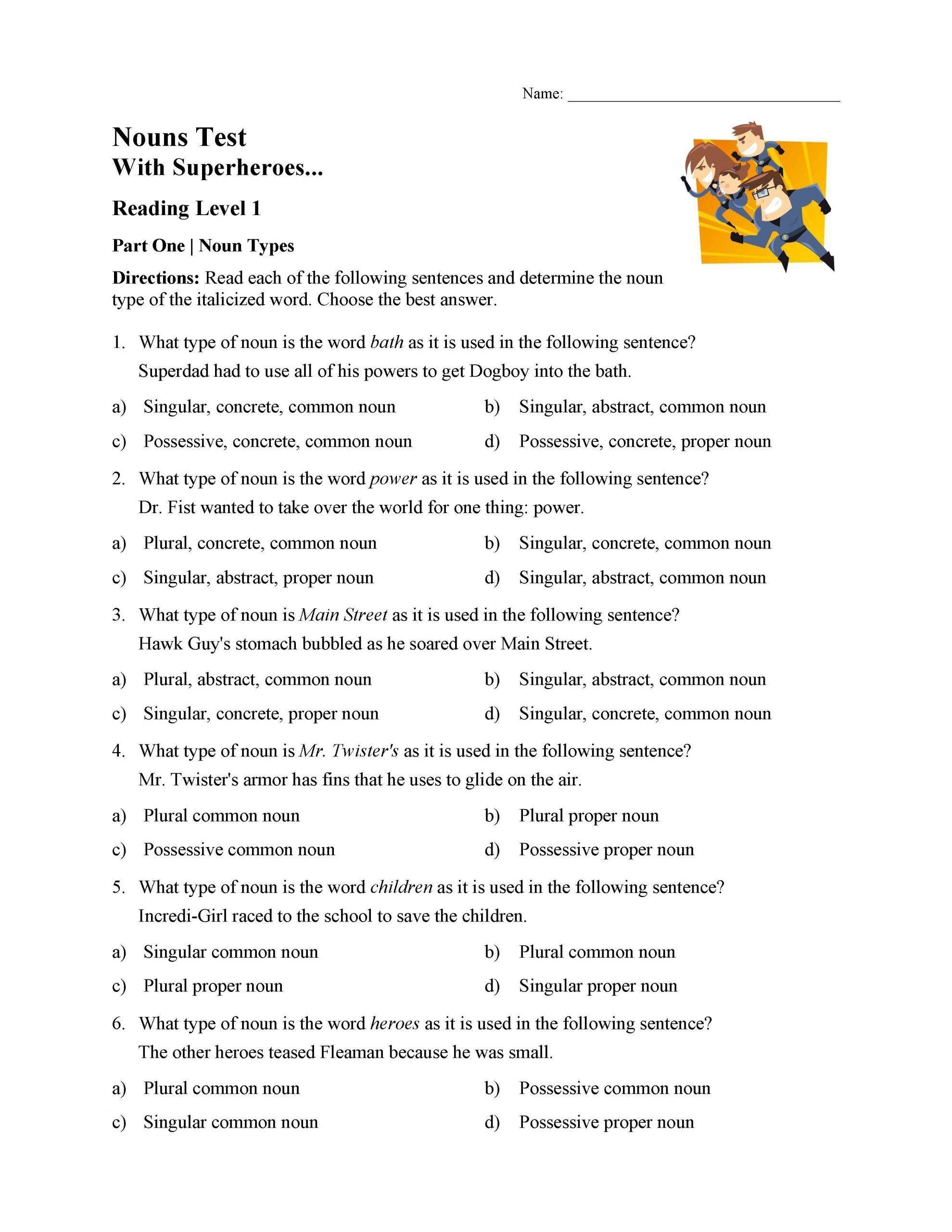 Singular Possessive Noun Worksheet Singular Possessive Nouns Worksheet 3rd Grade In 2020 Nouns Worksheet Possessive Nouns Worksheets Possessive Nouns