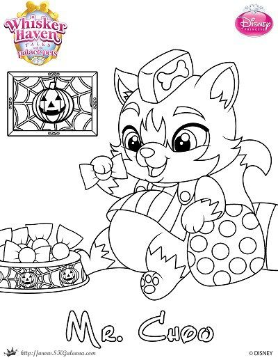 Mr Chow Halloween Coloring Page from Palace Pets ...