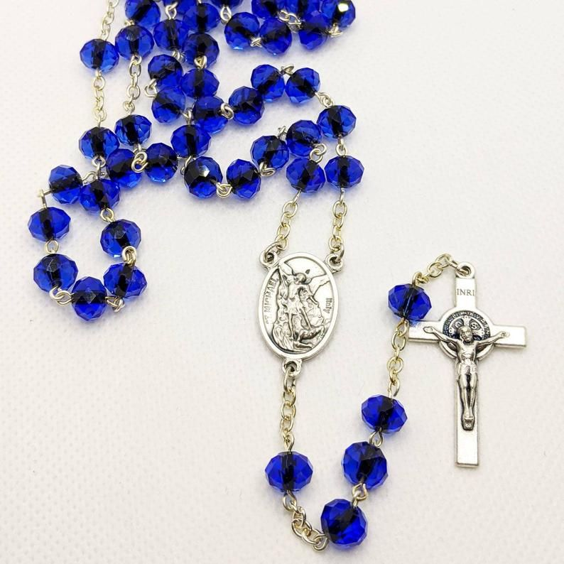 St Michael/St Benedict Police Officer themed Catholic Rosary