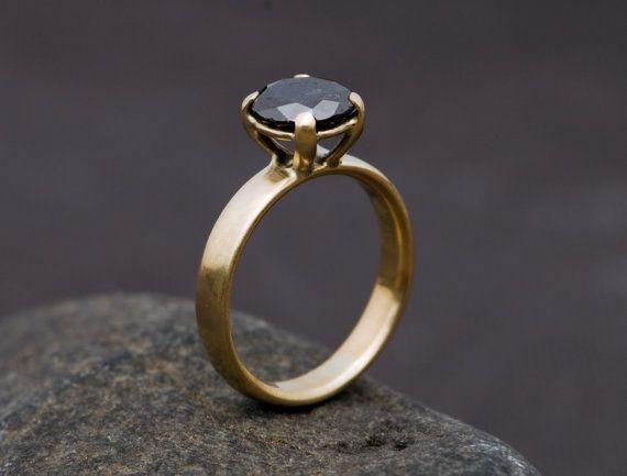 Black Diamond Ring Anillo De Oro 18k Por Williamwhite