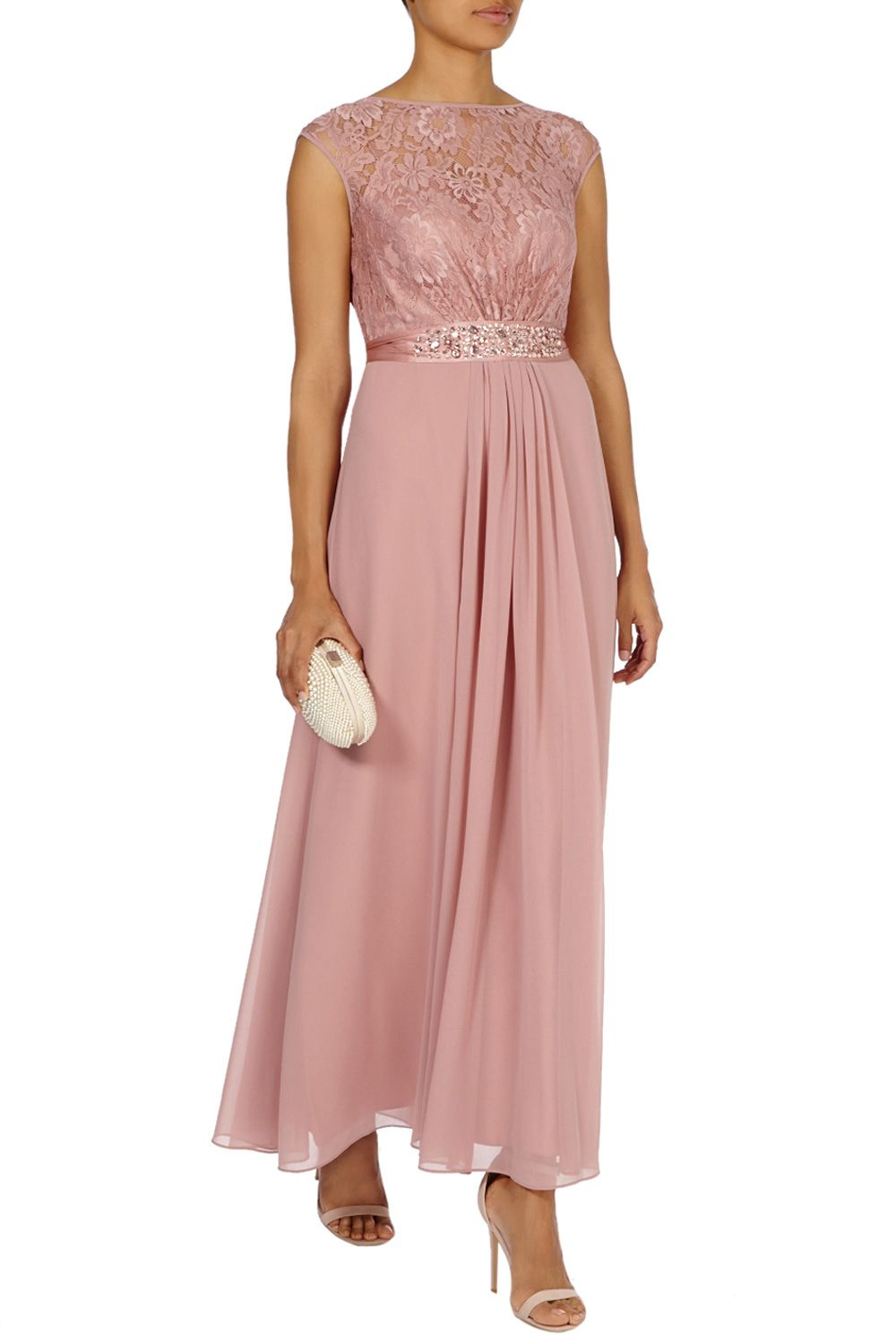 Bridesmaid Dresses & Outfits | Pinks LORI LEE LACE MAXI DRESS ...