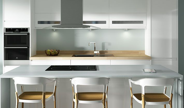Terrific Top Cabinets Sofia White Gloss Kitchen Wickes Co Uk Beutiful Home Inspiration Truamahrainfo