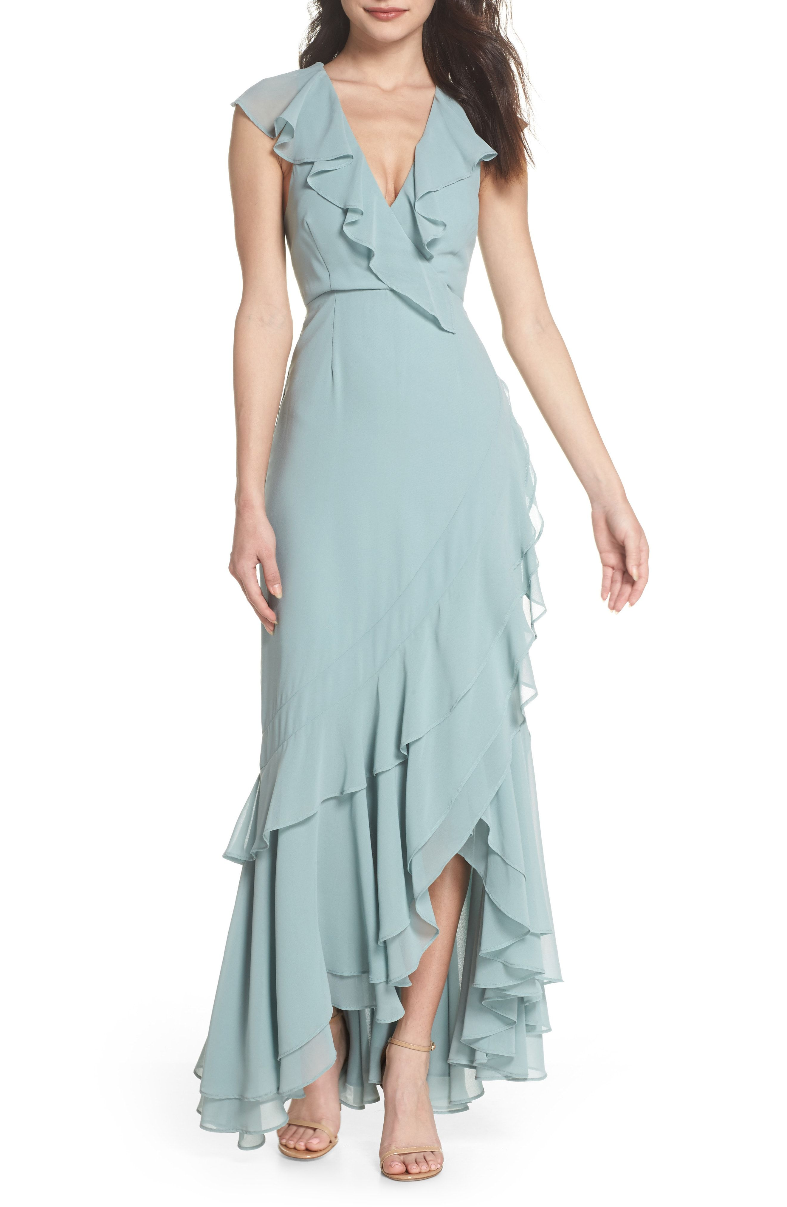 New C/MEO Be About You Ruffle Gown from the most popular stores ...