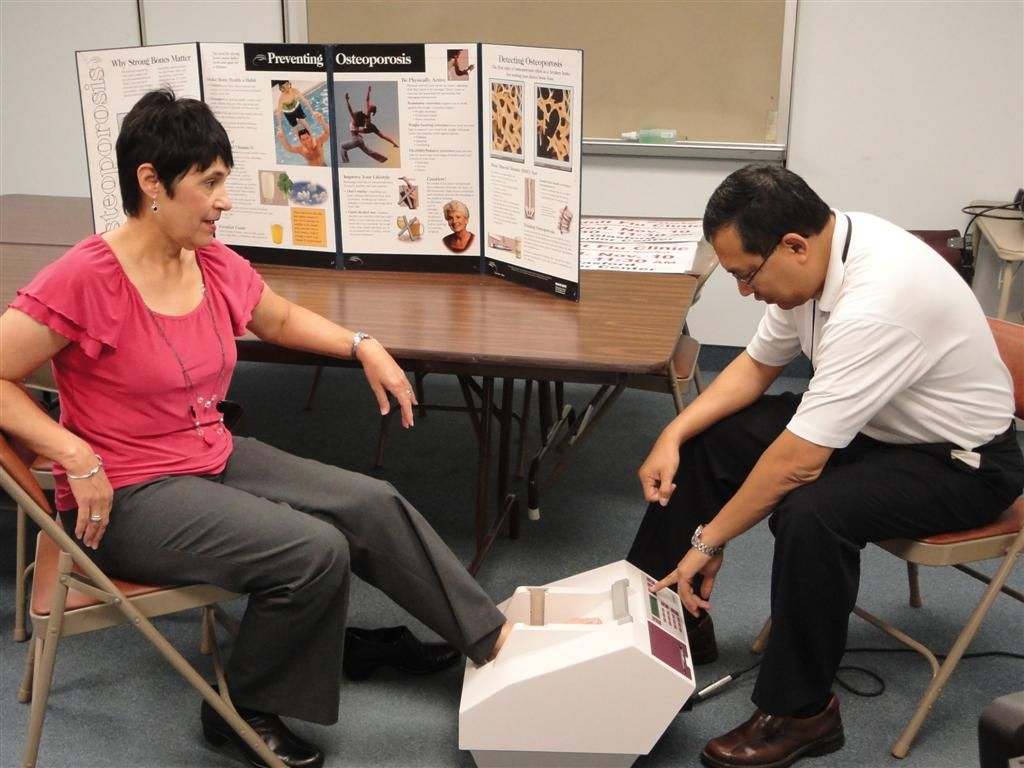 Health fair screening for osteoporosis health fair