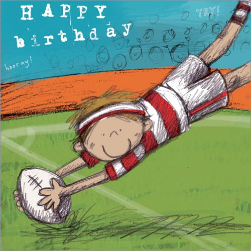 Great Card For The Rugby Hero In Your Family Rugby Birthday Birthday Cards Birthday