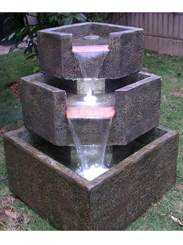 Cascade Falls Fountain Garden Fountains Com Backyard Water Fountains Water Fountains Outdoor Water Fountain Design