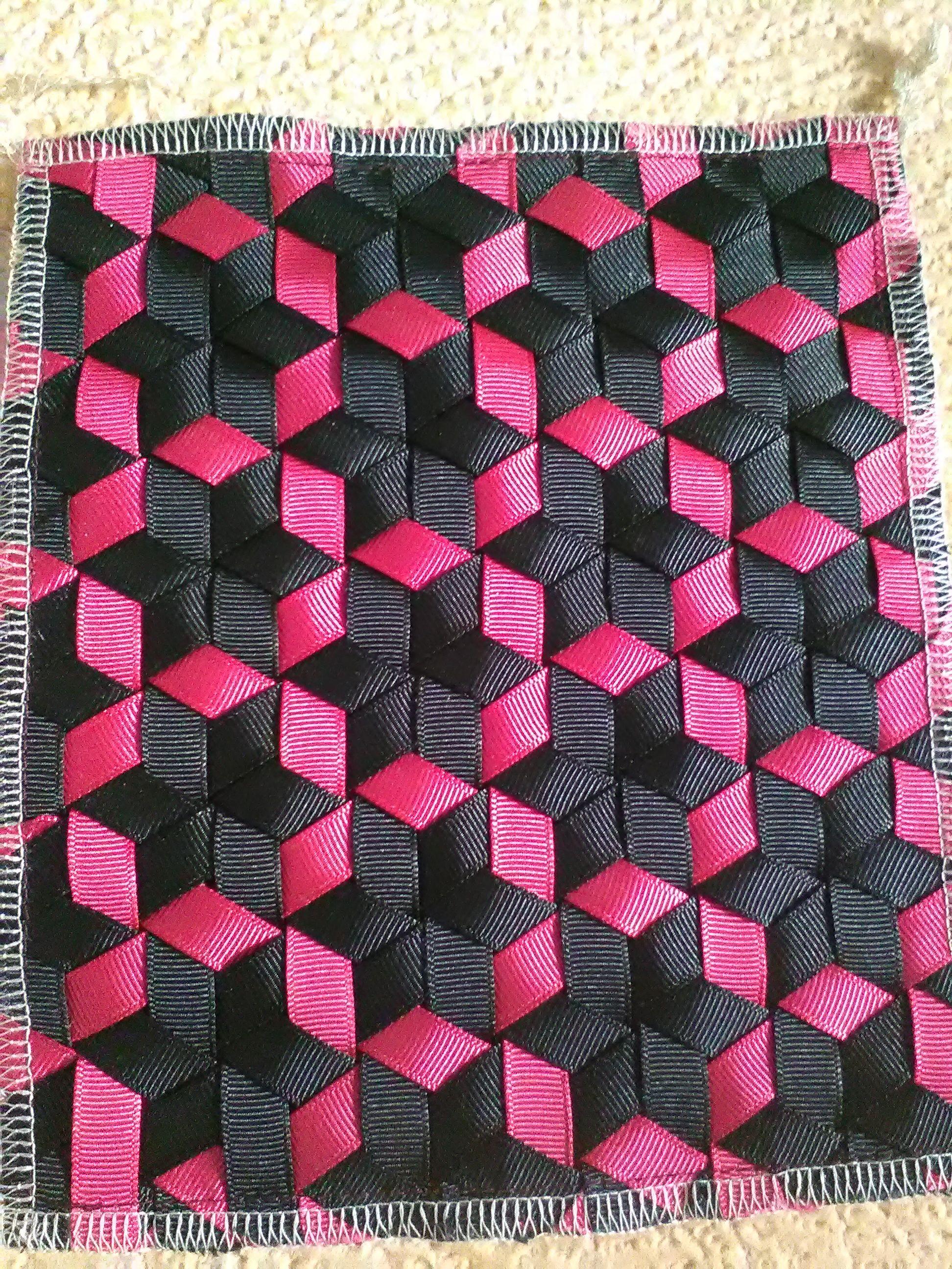 triaxial ribbon weaving | yes | Pinterest | Mutti, Streifen und Stoffe