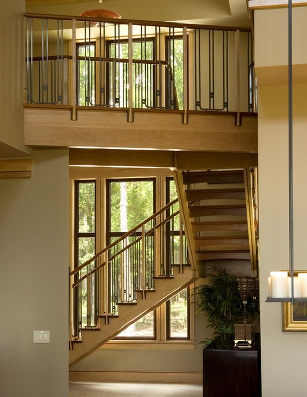 Best Contemporary Staircase With Iron Wood Stair Railings The 640 x 480