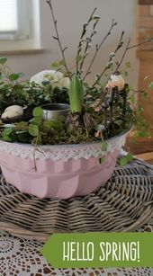 Table decoration for the spring and Easter Sensational in pastel  Ostern  backen basteln DIYs