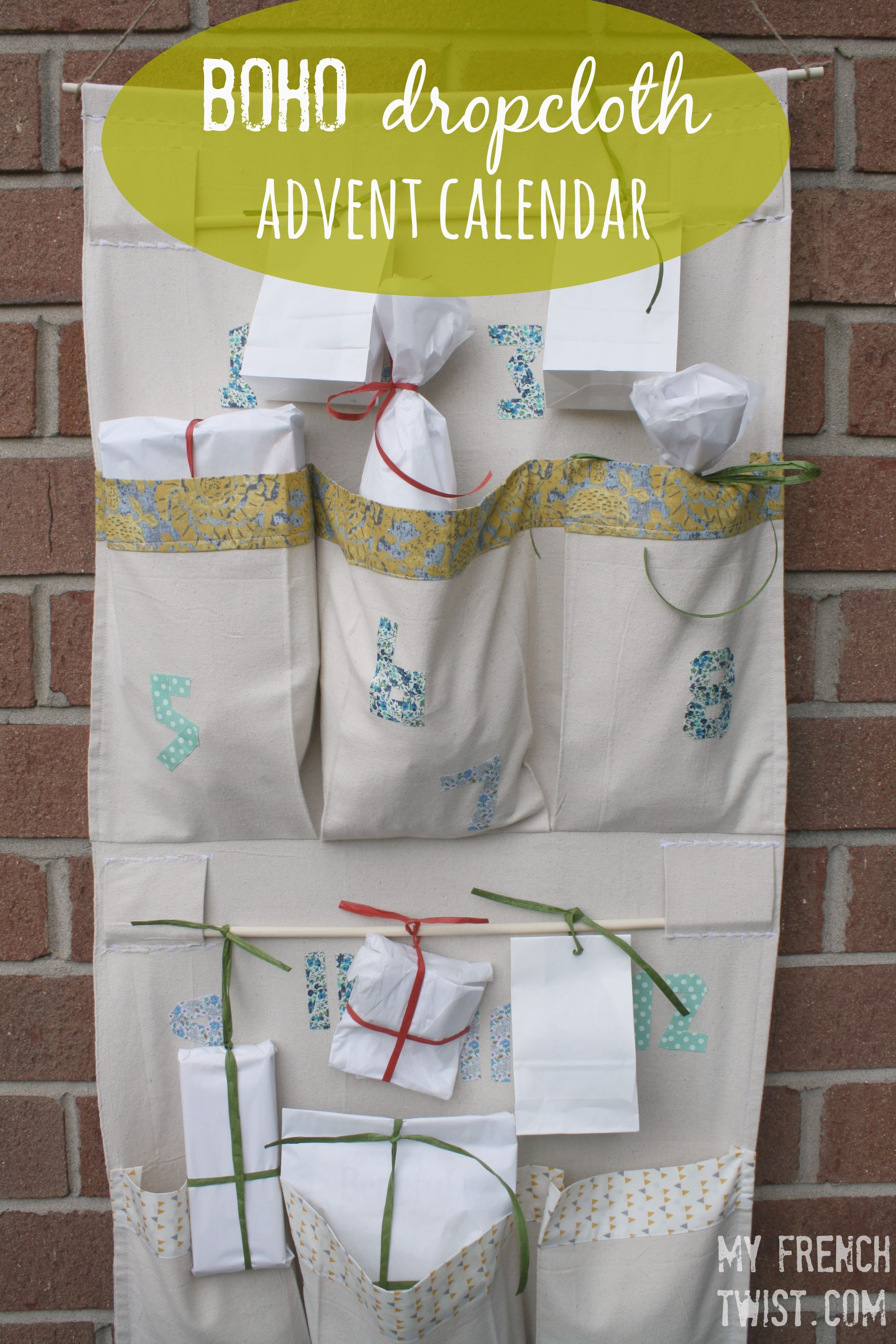 Boho Advent Calendar Sew Christmas Pinterest Diy Diy Craft