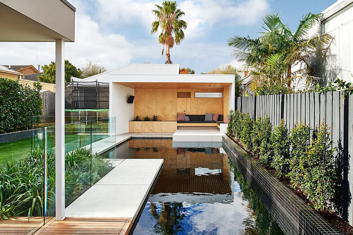 brighton bunker: this plywood clad poolside hangout does it all