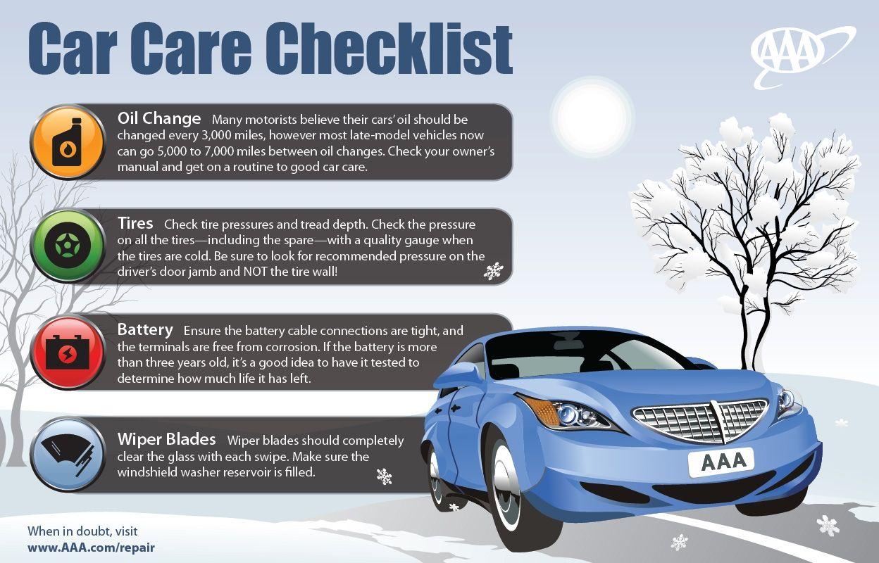 Winter Car Care Checklist Car Advice Tips Infographic