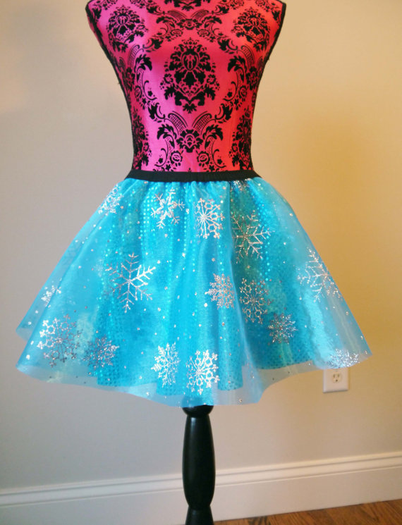 Elsa Running Skirt Running Skirt Sparkle Blue by