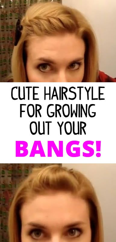 Hair Styles For When Growing Out Bangs Growing Out Bangs
