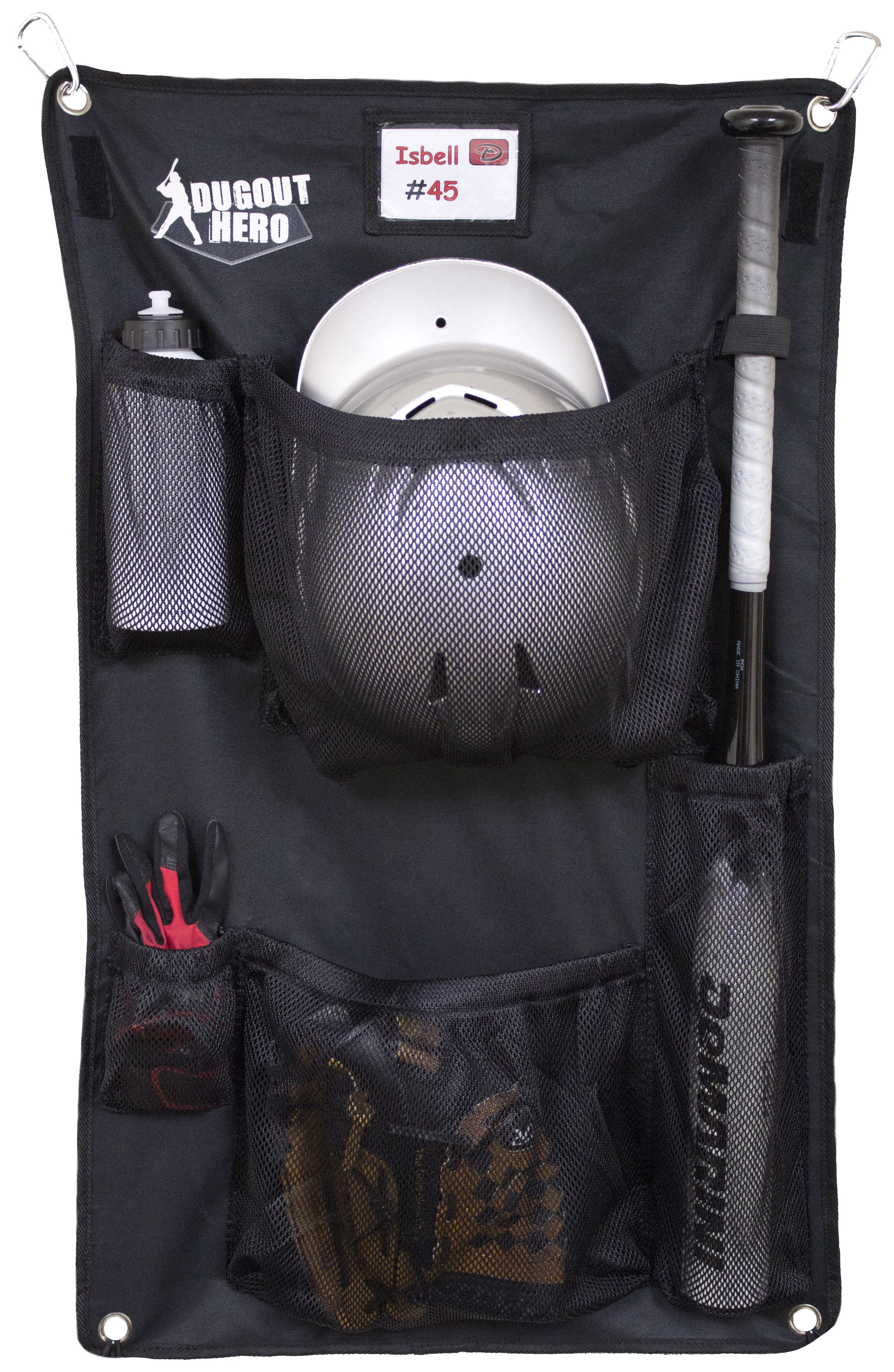 The Dugout Hero Is A Personal Organizer For Baseball Softball And T Ball Designed As Supplement To Bat Bag It Picks Up Where