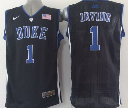 Duke Blue Devils  1 Kyrie Irving Black Jersey  4910d25c9