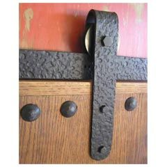 Agave Ironworks Rh007 6 Wrought Iron Rolling Track Barn Door