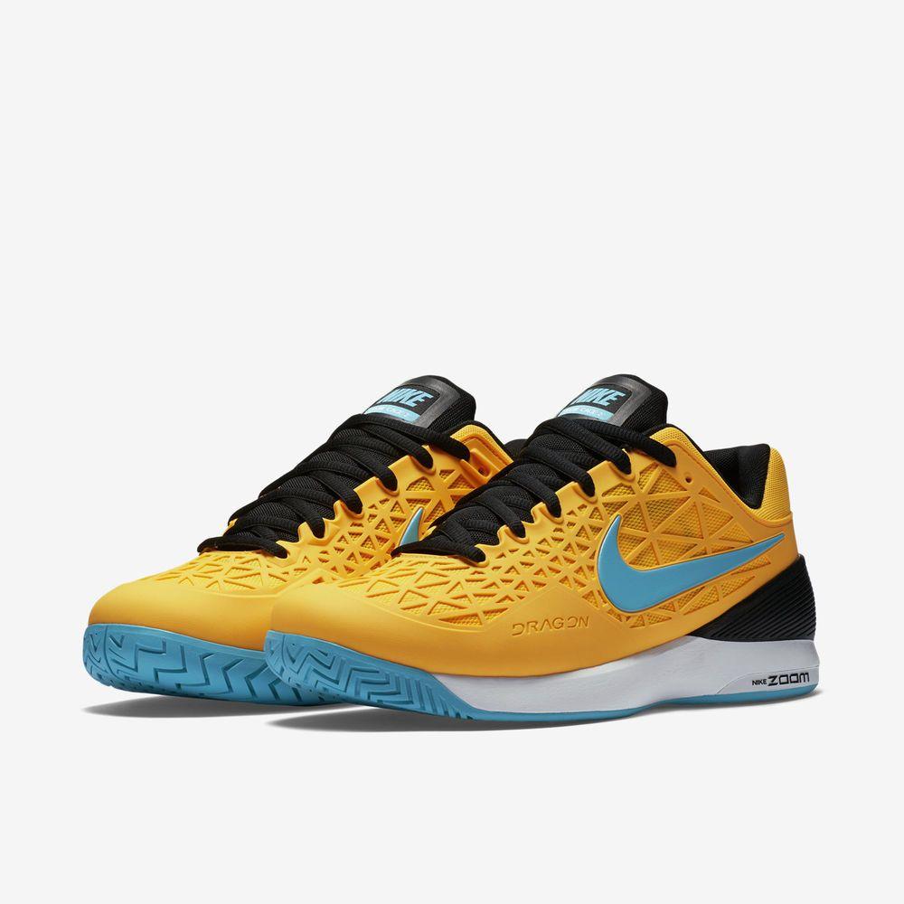 8b405c97b40 Nike Court Zoom Cage 2 Mens Tennis Shoes 9 Laser Orange Gamma Black 705247  840…